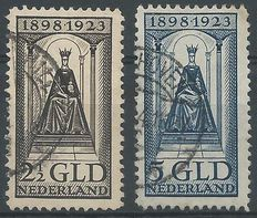 The Netherlands, 1923 – Anniversary of the reign – NVPH 130 + 131