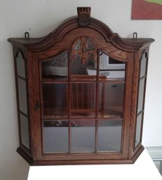 Beautiful oak display cabinet - 1st half 20th century
