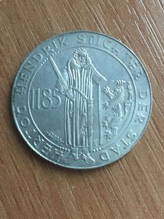 "The Netherlands - Silver Hendrik of 1 guilder 1935 ""750 years of 's Hertogenbosch"""