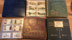 3 albums with 509 Liebig Chromos album + 1 with ca. 130 Cibils trade cards Collect pictures, from ca. 1875.