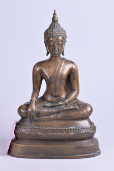 Bronze Buddha statue of 5.2 kg - Thailand - late 20th century