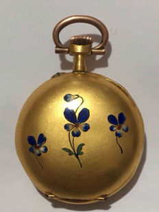 Women's gold pocket watch, early 1900s