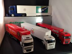 Lion Toys / CSE / NZG - Scale 1/50 - Lot with 4 models: 2 x Daf, 1 x Mercedes-Benz & 1 xMAN