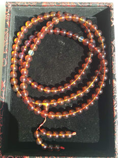 Burma amber necklace - 41.2 grams - 95 cm