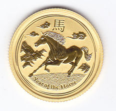 Australia - 15 Dollars 2014 'Year of the Horse' - 1/10 ounce gold
