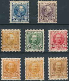 Denmark – Selection between Facit 65 and 161