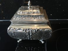 Silver cover box, Netherlands, 1920