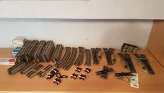 Märklin H0 - 5106/5206/5204/5118/-19 - 86-piece M-track collection with 4 switches and buffer blocks