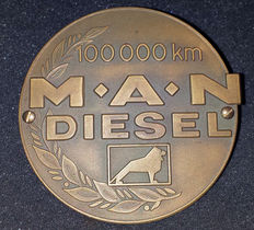 MAN Diesel 100.000 km grill badge - Solid brass -