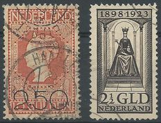 The Netherlands 1920/1923 – Clearance Issue and Governing Jubilee – NVPH 105 + 130