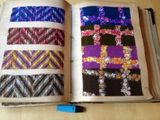 Book of archives with printed woollen fabrics - 1960's