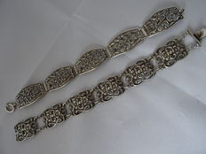 Two silver bracelets from the 1950s