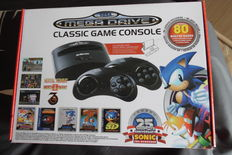 Sega classic game console with 80 games retro mix 25 year sonic boxed.