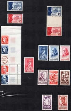France 1942/1971 – Set of pairs, strips, part sheets, full sheets.