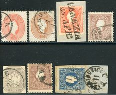 Lombardy Veneto – Lot of seven stamps.