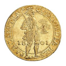 Utrecht, the Batavian Republic - Double ducat 1801 - gold