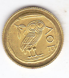 "Democratic Republic of the Congo - 20 francs 2003 ""Jeux Olympiques 2004 Athens"", gold."