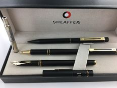 3 piece Sheaffer set. Fountain pen, roller ball, propelling pencil.  Targa 1003.  Mint Condition.