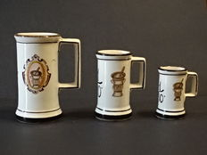 3 pharmacy measuring cups, Italy, 19th century