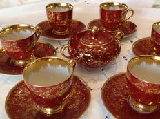 Coffee set made of china and pure gold Furstenberg