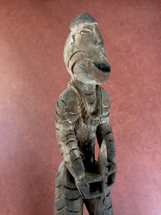 Wooden ancestor figure - Asmat - West-Papua