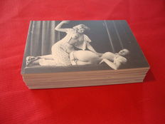 Postcards; Lot with 96 erotic picture postcards- from the 70s