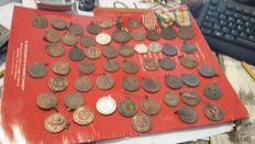 50 bronze and iron medals of the Alpini gatherings