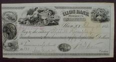 USA - Illion Bank orginal signed by Eliphalet Remington 1855, Manufacturer of Rifles and Guns