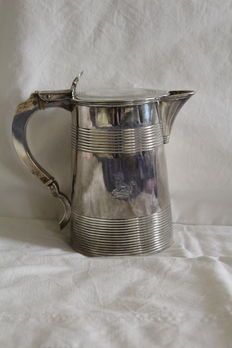 Silver sterling lidded mug / tankard, London, 1795-1796 (George III)