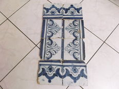 Tiles (8) from the 17th/18th Century, Portugal