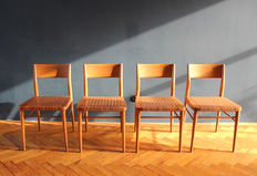 Georg Leowald for Wilkhahn - set of 4 chairs 'Mod. 351' (edition with original webbing)