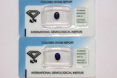 Pair of sapphires, total ct: 1.72 – No reserve price
