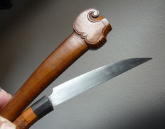 Circumcision knife with antique lithograph - Indonesia