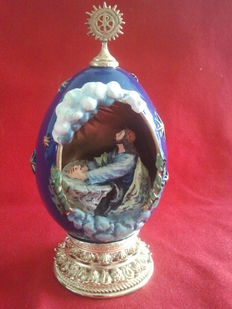 "House of fabergè  ""the agony in the garden"" egg collector numbered signed"