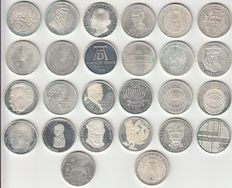 Germany – lot including 5 Marks coins, 26 in total – silver