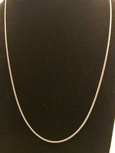 Handmade 14 kt gold curb link necklace
