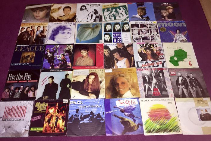 "Lot of 100 7"" Synth Pop singles"