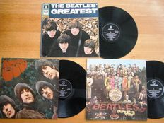 "Three  Beautiful Original Dutch LP's: 1.Rubber Soul PMC 1267 ""LOUD CUT""!!  2.""The Beatles' Greatest"" SMO 83991  and 3.Sgt. Pepper's Lonely Hearts Club Band   PCS 7027"