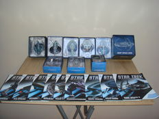 Star Trek - Eaglemoss - 9x models with magazines - Deep Space 9 station, USS Voyager, USS Excelsior, Borg Sphere, USS Reliant