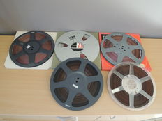 Lot of 17 reel-to-reel tapes