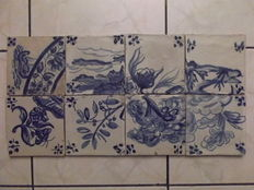 Monochromatic Tiles (8) from the 19th Century, Portugal