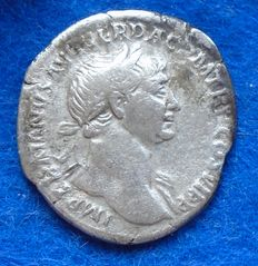 Roman Empire – Denarius of Trajan (98-117 A.D.), struck in Rome, father of Trajan, historical!