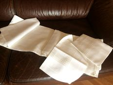 Antique linen double-bad sheets - entirely hand-worked  - Italy - 1940s/50s