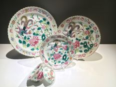 Famille rose Nonya / Peranakan straits phoenix set – China – 19th century