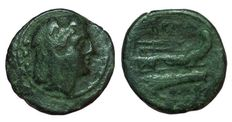 Roman Republic - Anonymous, Sextantal Series - AE Quadrans (23 mm; 7,39 g), after 211 BC - Rome mint - Head Hercules / Prow of galley - Cr. 56/5