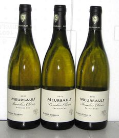 2011 Meursault 1° Cru Bouches Chères, Domaine Buisson-Charles, Lot of three bottles