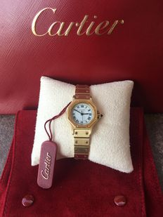 Cartier 18k gold Santos Octagon - Ladies watch
