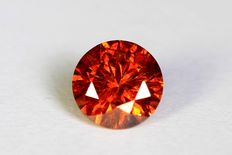 Red diamond - 0.24 ct - No reserve price