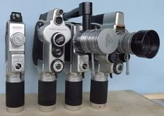 4 Swiss film cameras for double 8 (split 16) film system from the years 1950-1960