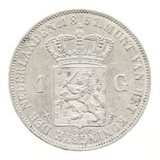 The Netherlands – 1 guilder 1851 Willem III – silver